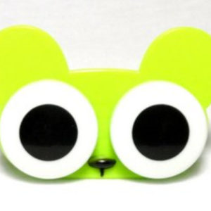 Big Eyes Animal Zoo Green Mouse Contact Lens Case
