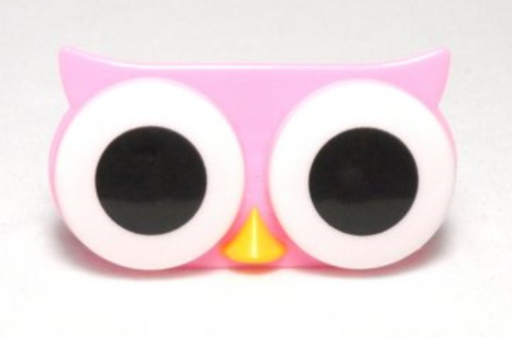 Big Eyes Animal Zoo Night Owl Contact Lens Case Solution
