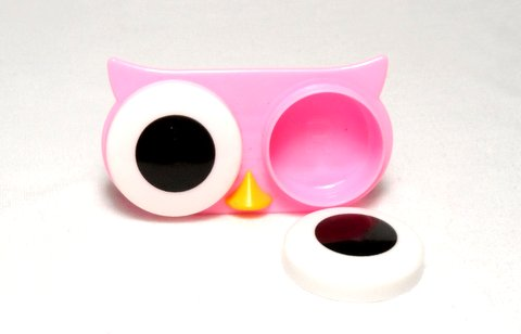 Big Eyes Animal Zoo Night Owl Contact Lens Case