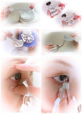 Meruru Tweezers Insert Remove Contact Lens without Fingers
