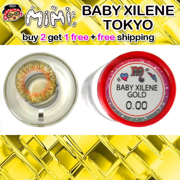 MIMI BABY XILENE GOLD CONTACT LENS