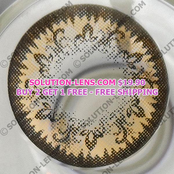 MIMI CARNATION BROWN CONTACT LENS