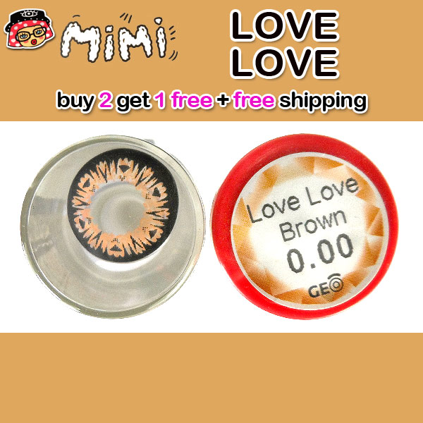 MIMI LOVE LOVE BROWN CONTACT LENS