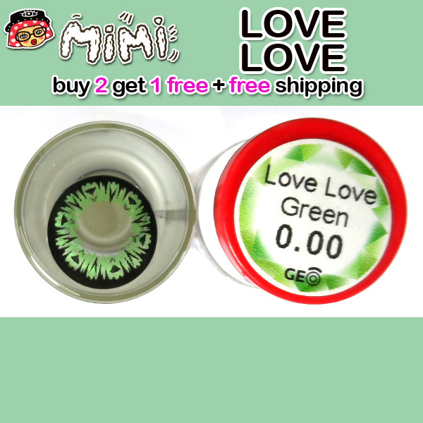 MIMI LOVE LOVE GREEN CONTACT LENS