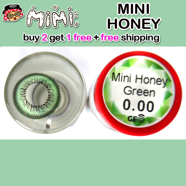 MIMI HONEY GREEN CONTACT LENS