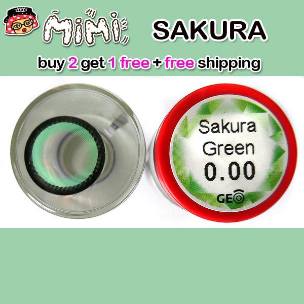MIMI SAKURA GREEN CONTACT LENS
