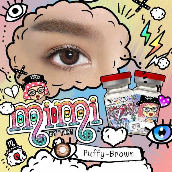 MIMI T PUFFY BROWN CONTACT LENS