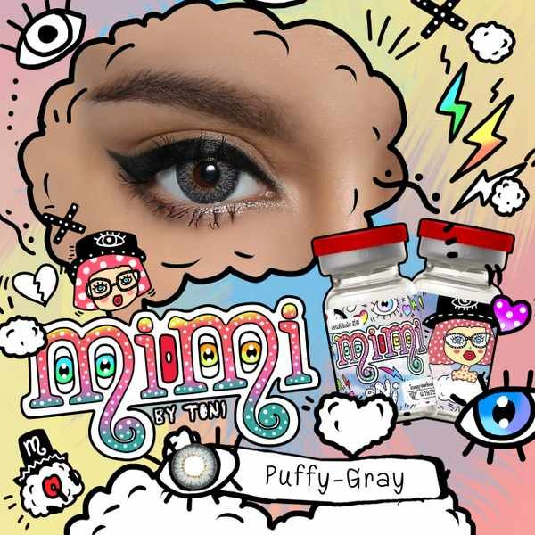 MIMI T PUFFY GRAY CONTACT LENS