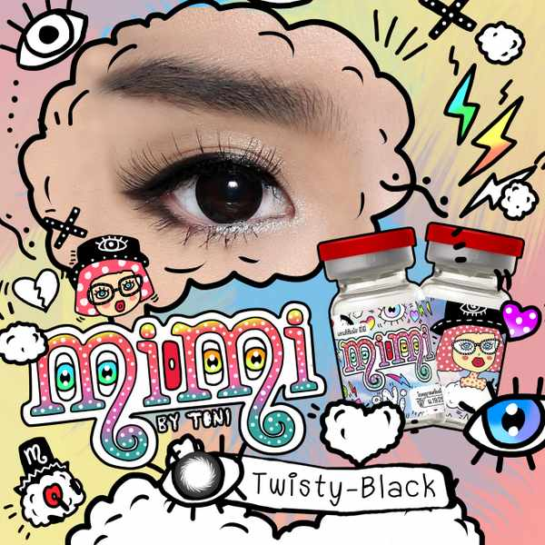 MIMI TWISTY BLACK CONTACT LENS