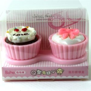 Cupcake Contact Lens Case Strawberry