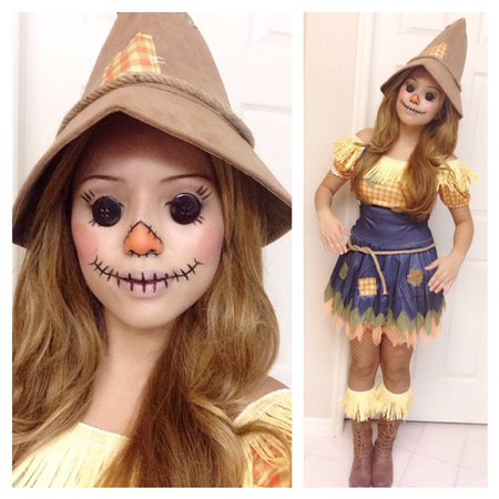 how to make a scarecrow makeup  solutionlens