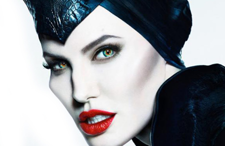 Angelina Jolie As Maleficent With Green Circle Lenses