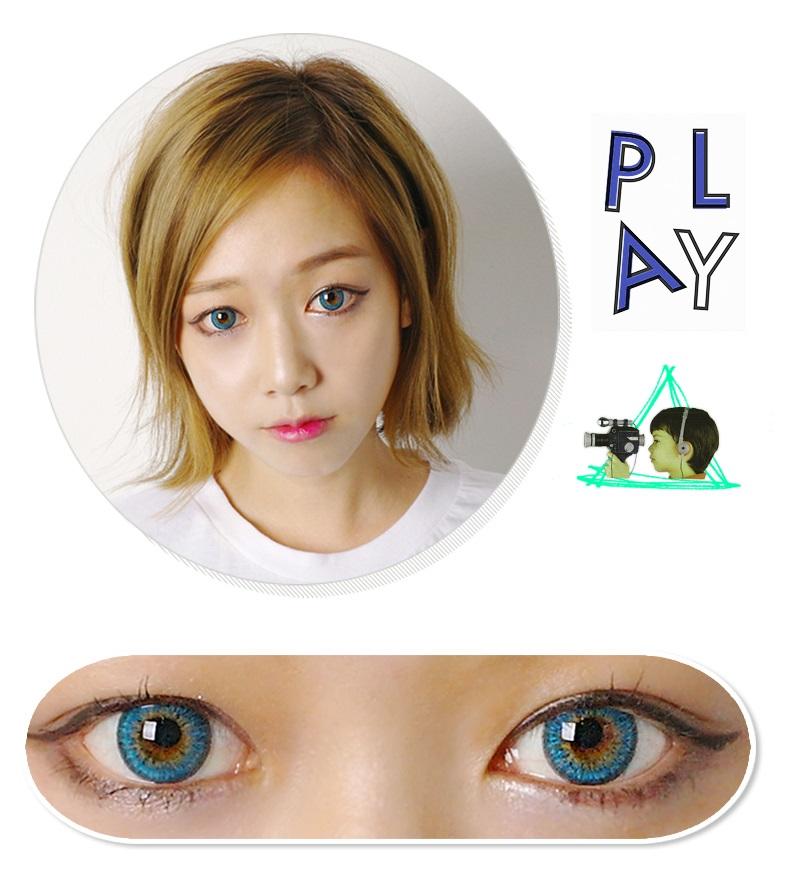 color lens review dueba puffy  tone circle lens  solution lenscom korean lens store