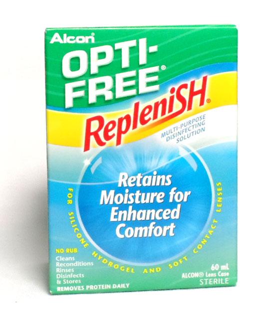 ALCON OPTI-FREE REPLENISH NEW FORMULA MULTI-PURPOSE DISINFECTING SOLUTION 60 ML