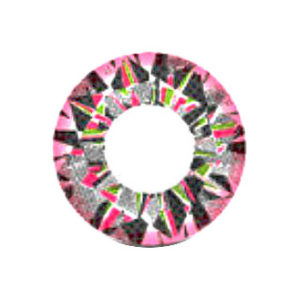 VASSEN DIAMOND 3 TONE PINK CONTACT LENS