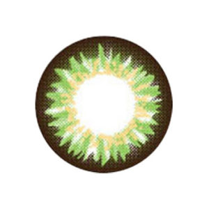 VASSEN FLAMINGO GREEN CONTACT LENS
