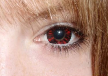 VASSEN FOREST RED CONTACT LENS