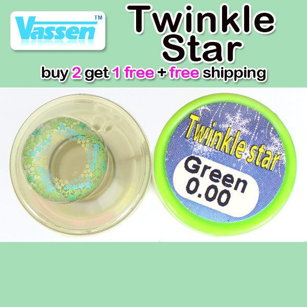 VASSEN TWINKLE STAR GREEN CONTACT LENS