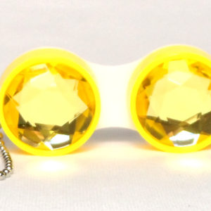 Keychain Diamond Yellow Contact Lens Case